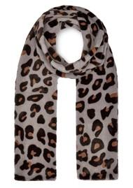 NOOKI Ari Faux Fur Scarf - Blue Leopard