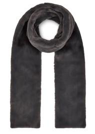 NOOKI Anna Faux Fur Scarf - Grey