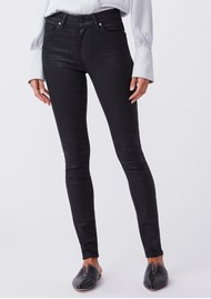 Paige Denim Hoxton Ultra Skinny Coated Jeans - Black Croc
