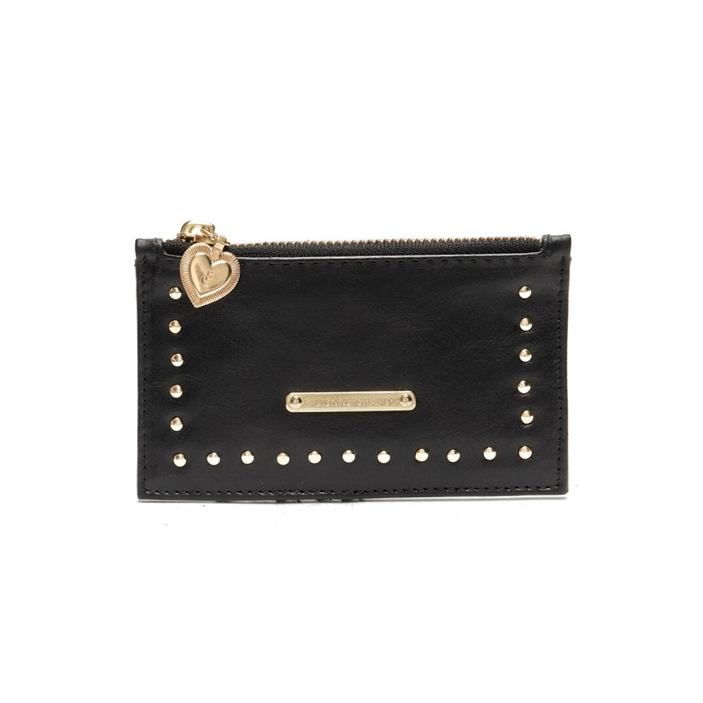 Lucky Leather Card Holder Purse - Black (Bags) photo