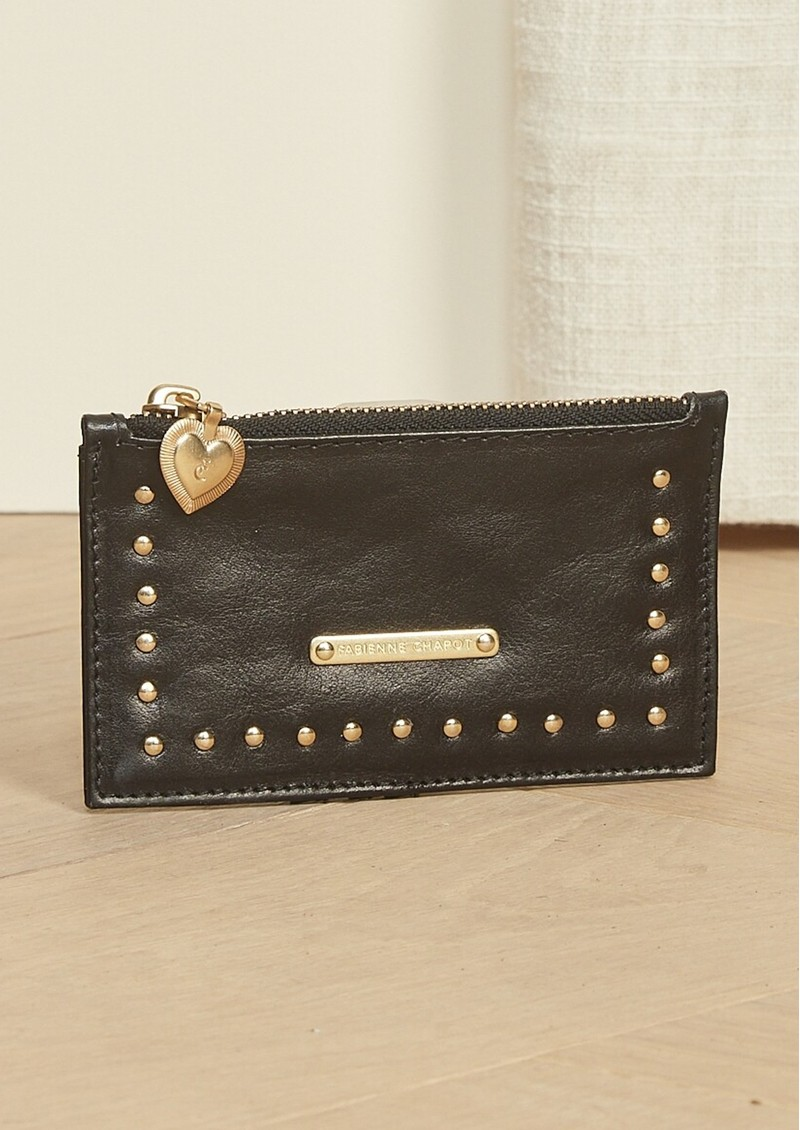 FABIENNE CHAPOT Lucky Leather Card Holder Purse - Black main image