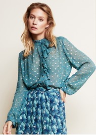 FABIENNE CHAPOT Garden Blouse - Dusty Blue