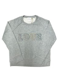 JUMPER 1234 Love Cotton Sweatshirt - Grey Melange