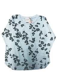 JUMPER 1234 Leopard Print Cotton Tee - Blue