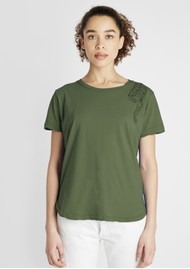 JUMPER 1234 Tiger Cotton Tee - Army