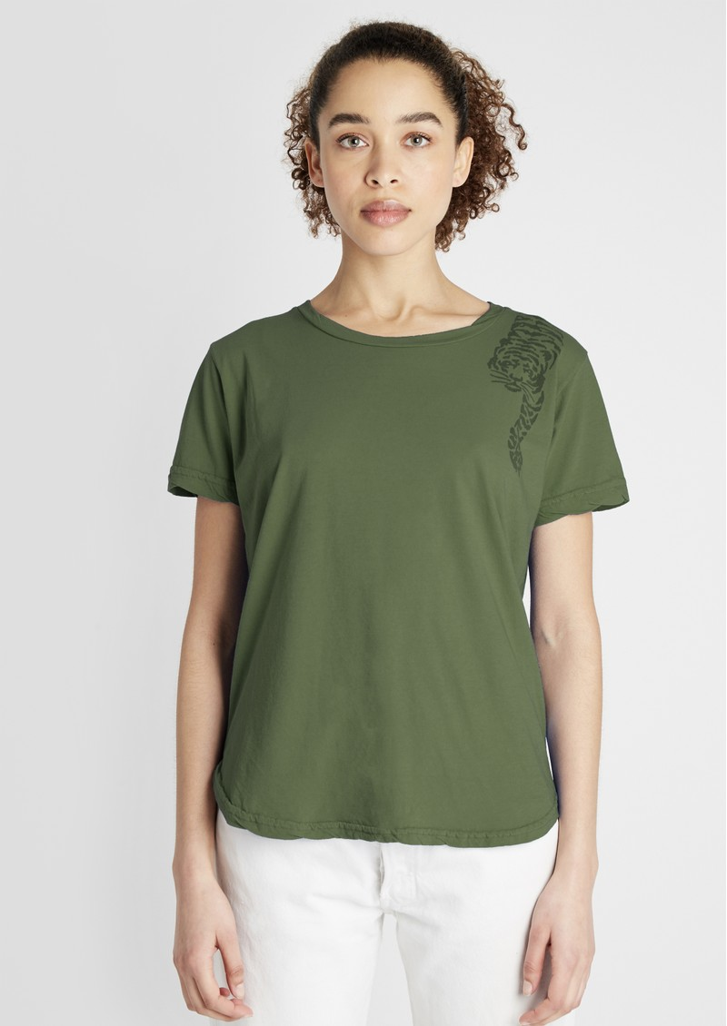 JUMPER 1234 Tiger Cotton Tee - Army main image