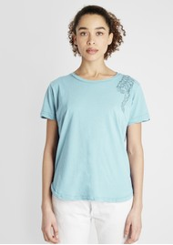 JUMPER 1234 Tiger Cotton Tee - Sky