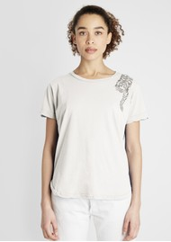JUMPER 1234 Tiger Cotton Tee - White