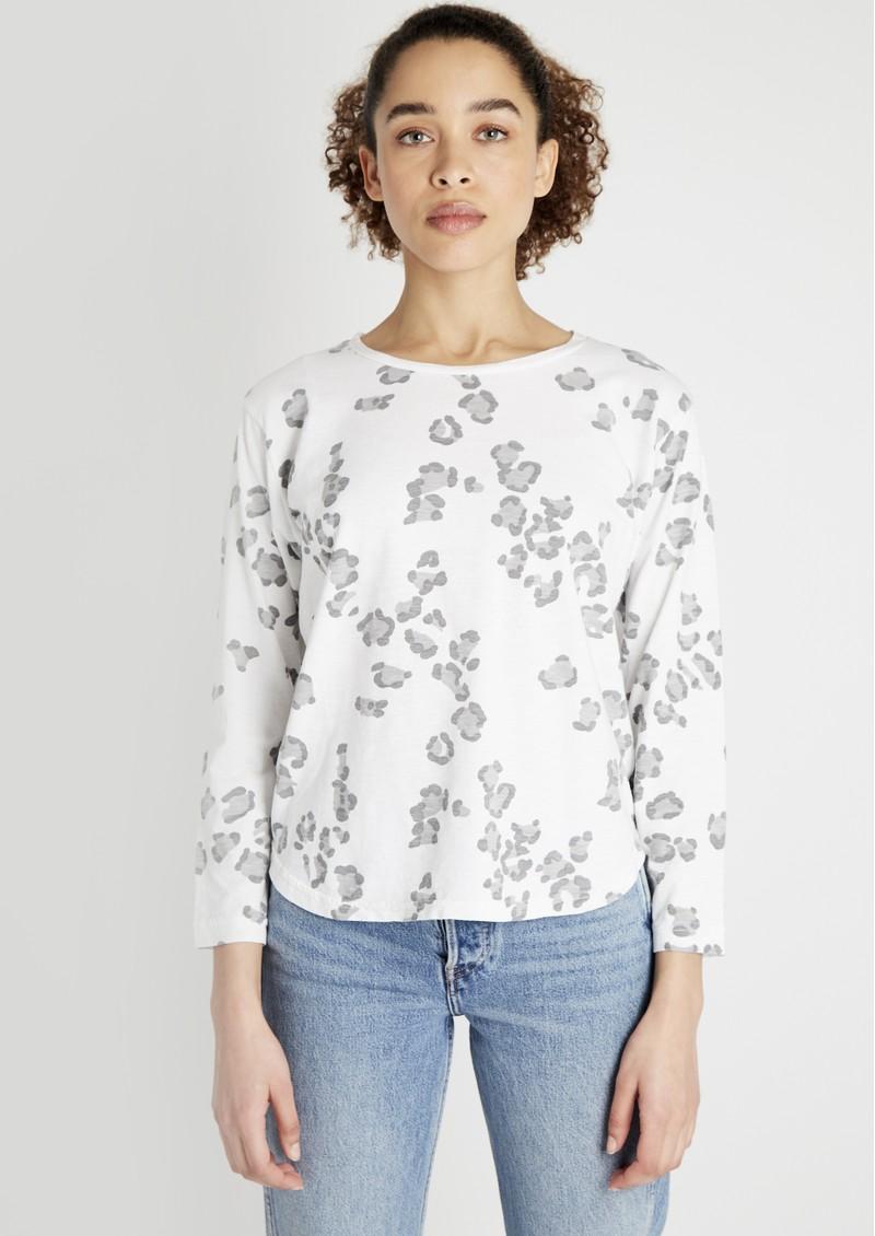JUMPER 1234 Leopard Print Cotton Tee - White main image