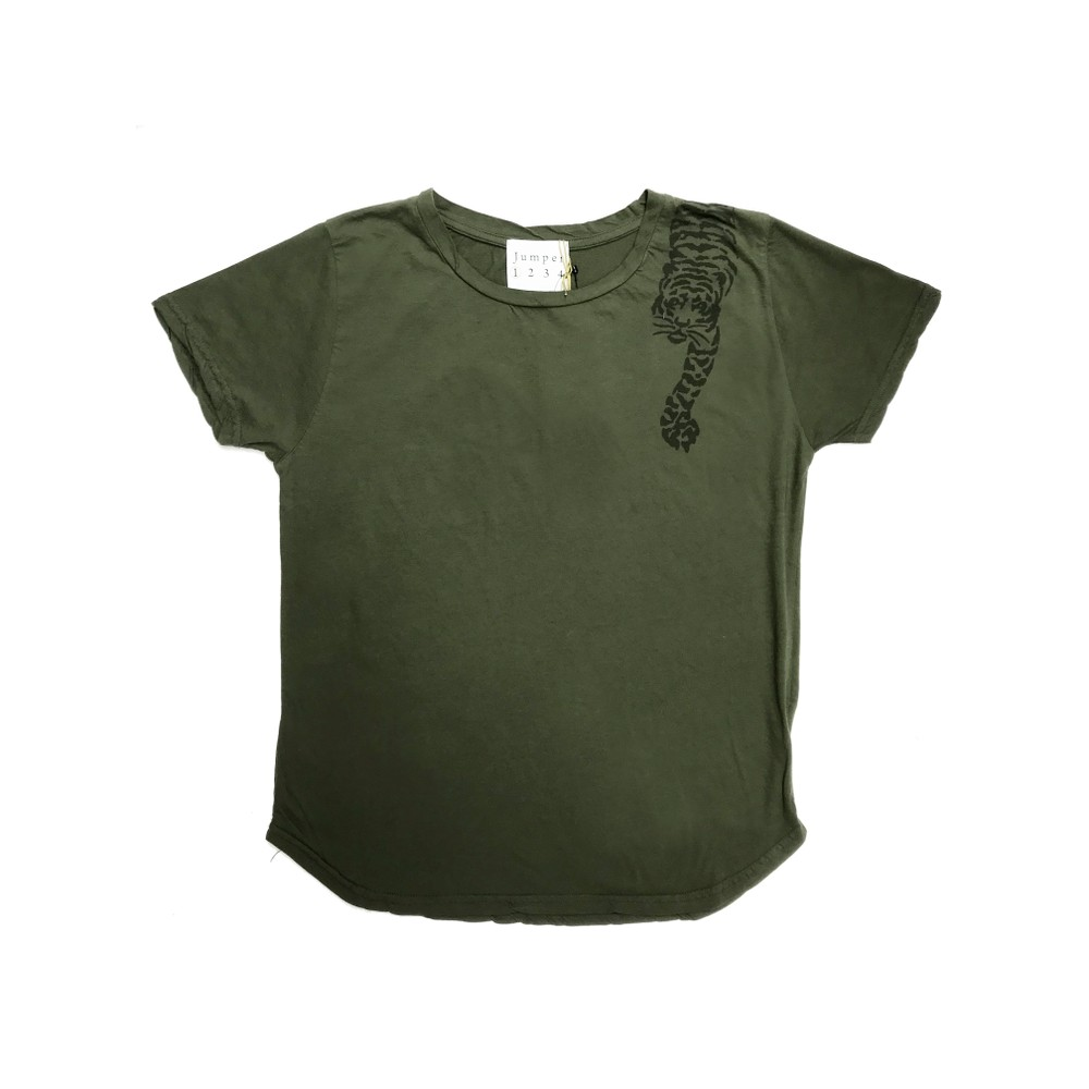 Tiger Cotton Tee - Army