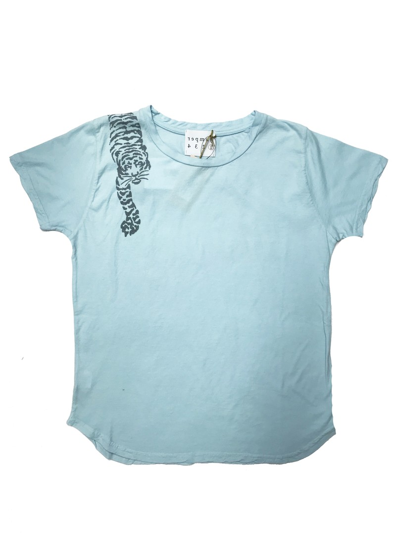 JUMPER 1234 Tiger Cotton Tee - Sky main image