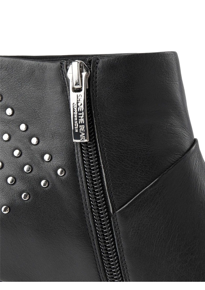 SHOE THE BEAR Valentine Stud Leather Bootie - Black main image