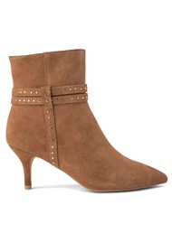 SHOE THE BEAR Bergit Strappy Suede Bootie - Tan