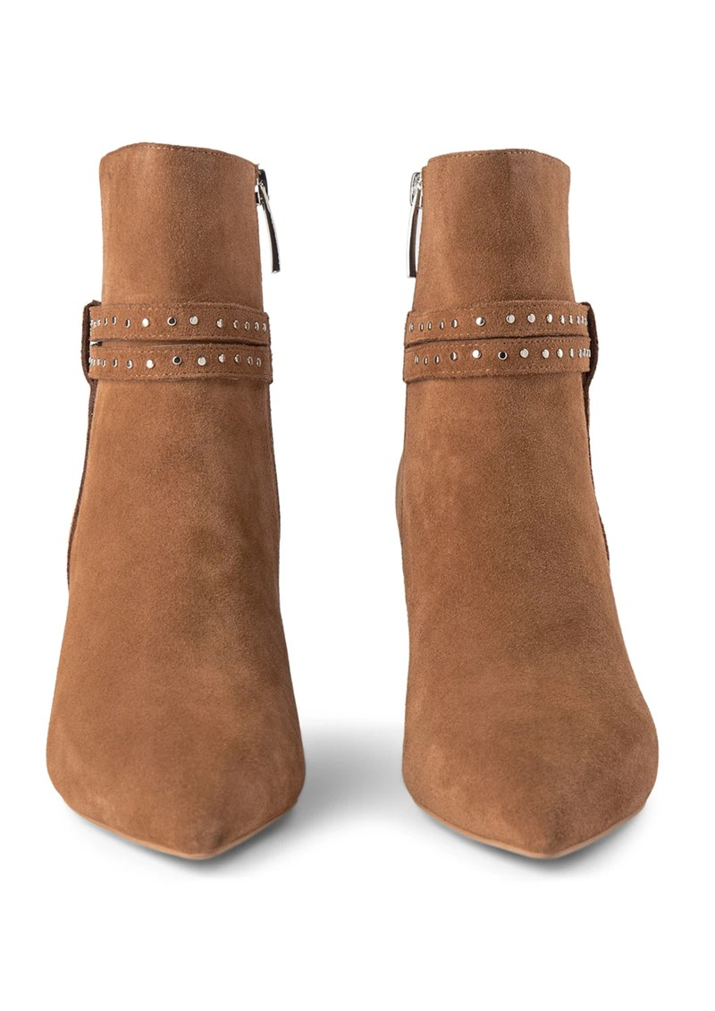 SHOE THE BEAR Bergit Strappy Suede Bootie - Tan main image