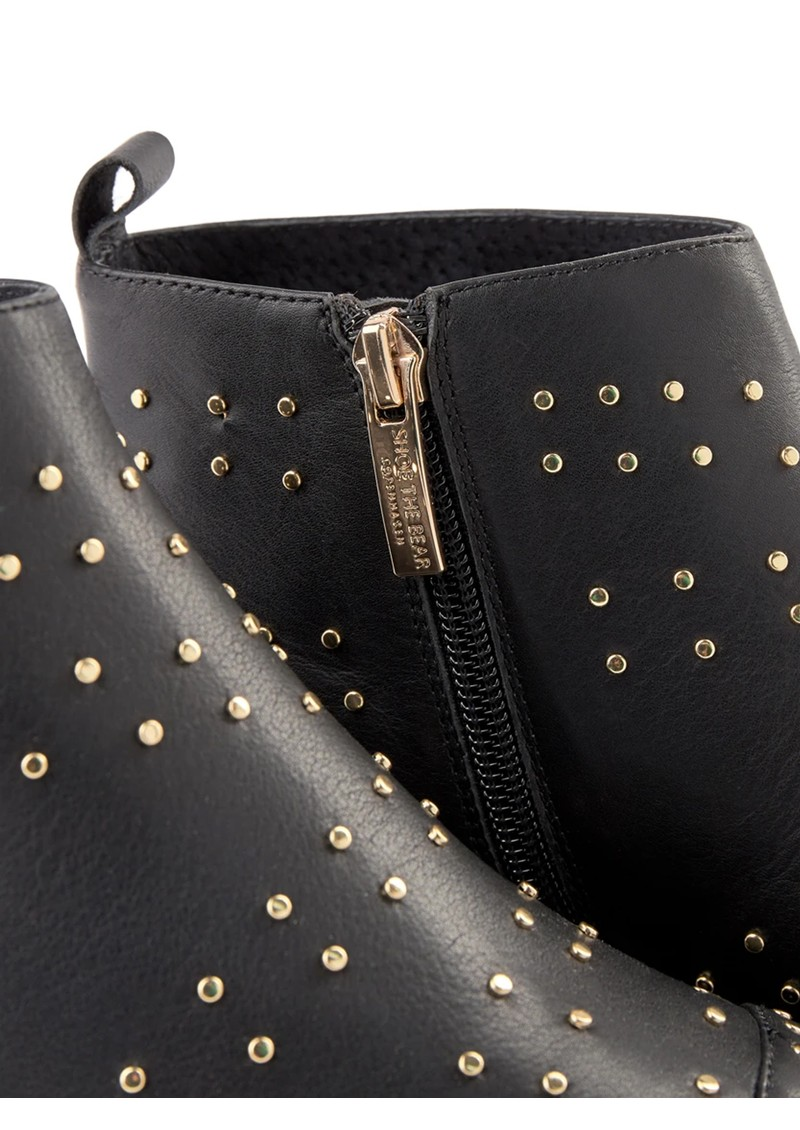 SHOE THE BEAR Miho Zip Studs Leather Boot - Black main image