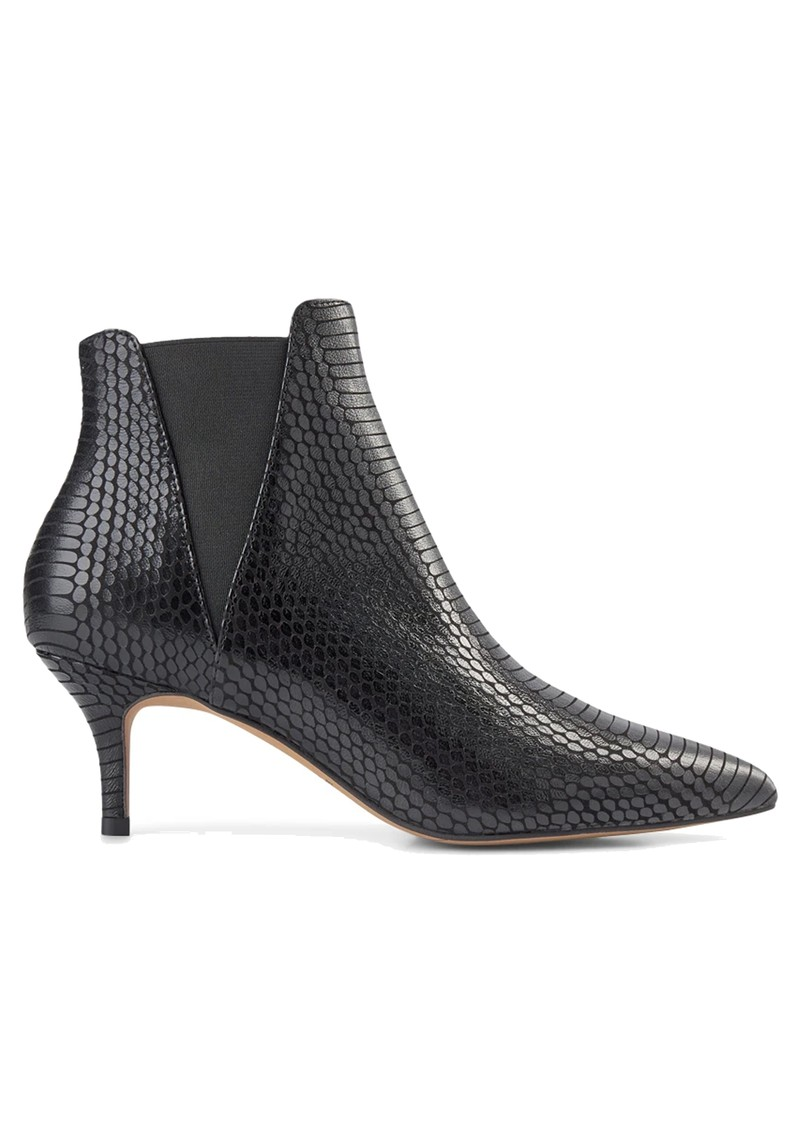 SHOE THE BEAR Siena Chelsea Snake Leather Bootie - Black main image