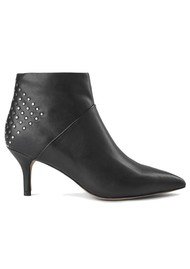 SHOE THE BEAR Valentine Stud Leather Bootie - Black