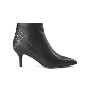 Valentine Stud Leather Bootie - Black