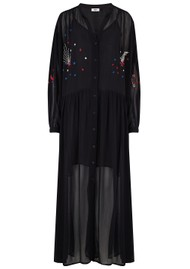 ME369 Piper Embroidered Maxi Dress - Black