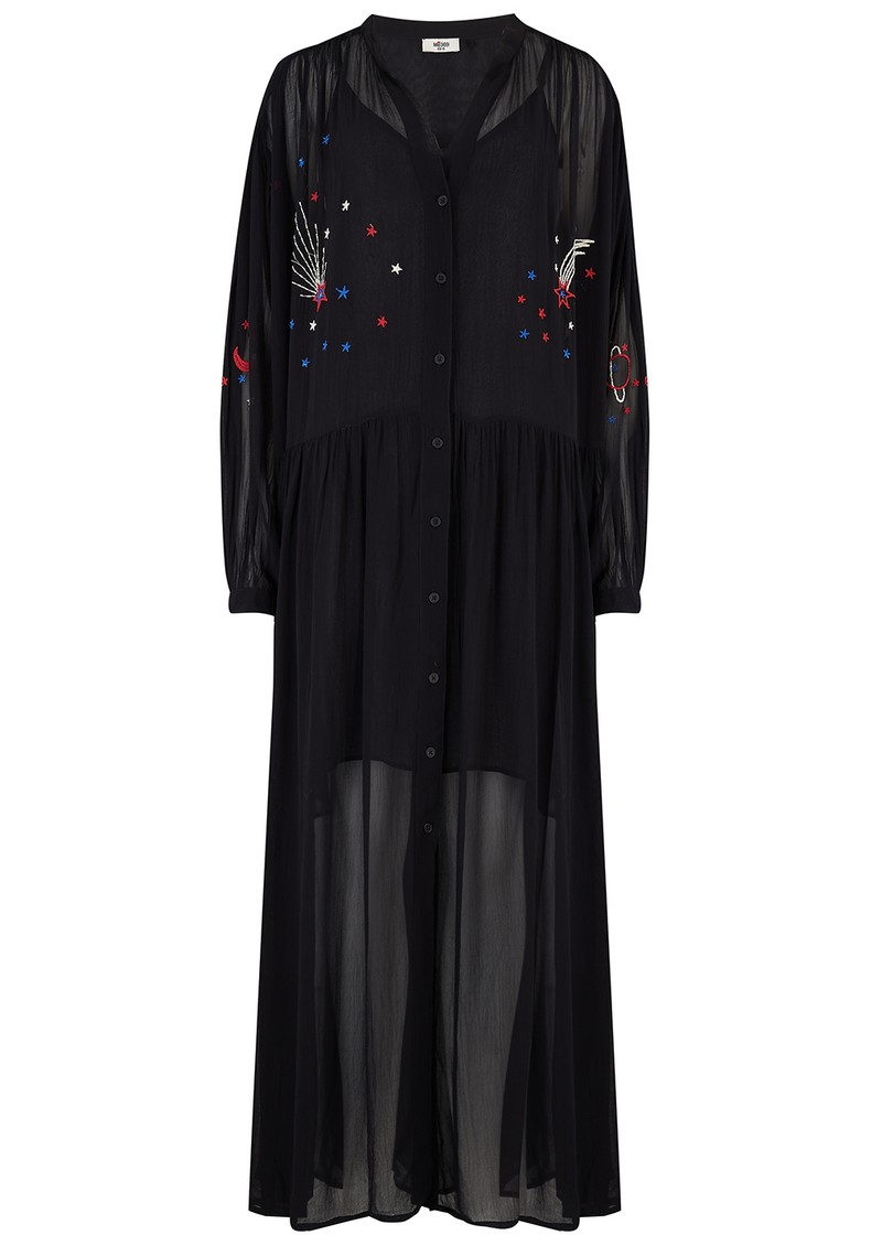 ME369 Piper Embroidered Maxi Dress - Black main image