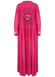 ME369 Piper Embroidered Maxi Dress - Pink