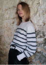 BERENICE Anita Striped Jumper - Off White & Navy