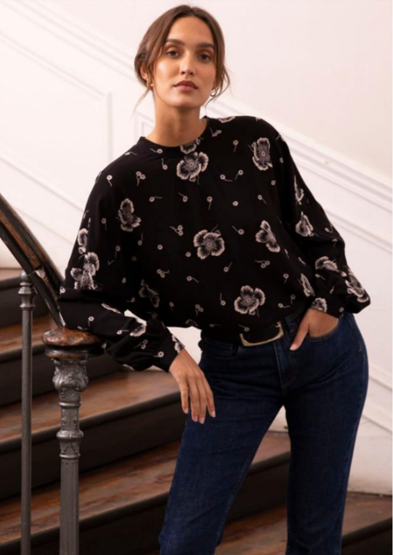 Rita Blouse - Black main image