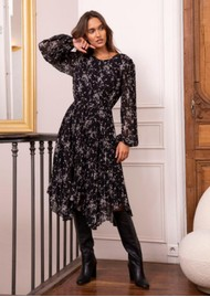 IDANO Madeleine Dress - Black