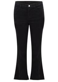 J Brand Selena Mid Rise Boot Cut Cropped Jeans - Black Velvet