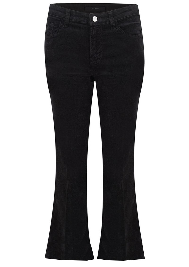 J Brand Selena Mid Rise Boot Cut Cropped Jeans - Black Velvet main image