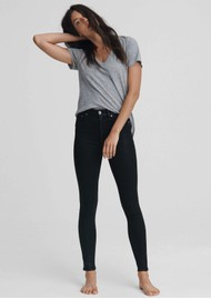 RAG & BONE Nina High Rise Skinny Coated Jeans - Black