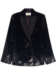 Ba&sh Kartel Velvet Blazer - Black