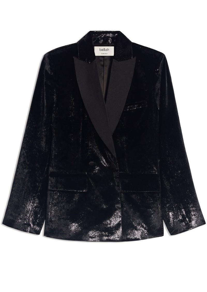 Ba&sh Kartel Velvet Blazer - Black main image
