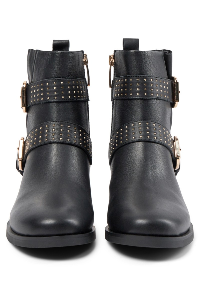 Amy Leather Buckle Boots - Black main image