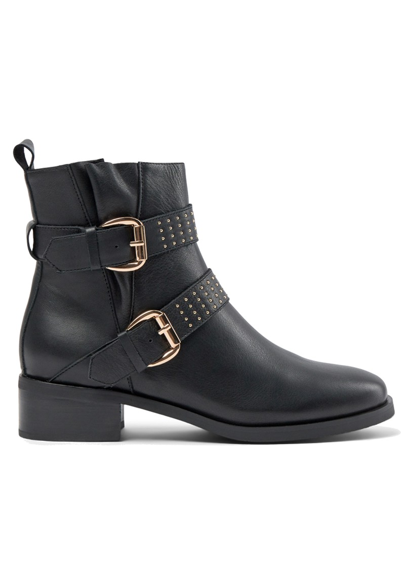 SHOE THE BEAR Amy Leather Buckle Boots - Black main image