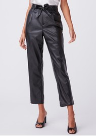 Paige Denim Melila Vegan Leather Pant - Black