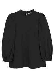 MAYLA Carly Cotton Mix Blouse - Black