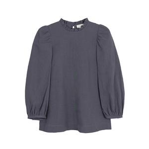 Carly Cotton Mix Blouse - Grey