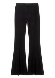 MAYLA Cora High Waisted Flare Leg Trousers - Black