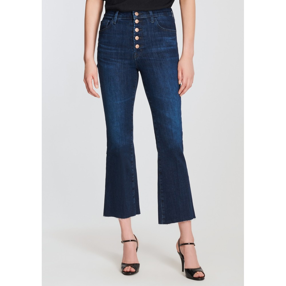 Lillie High Rise Cropped Flared Jeans - Impulse