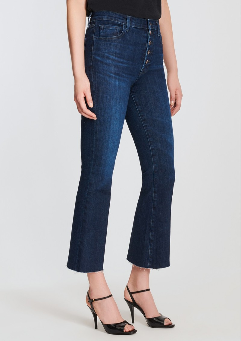 J Brand Lillie High Rise Cropped Flared Jeans - Impulse main image