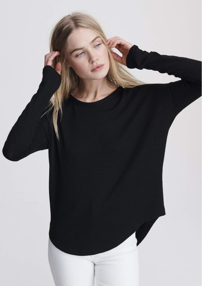 RAG & BONE The Knit Long Sleeve T-Shirt - Black main image