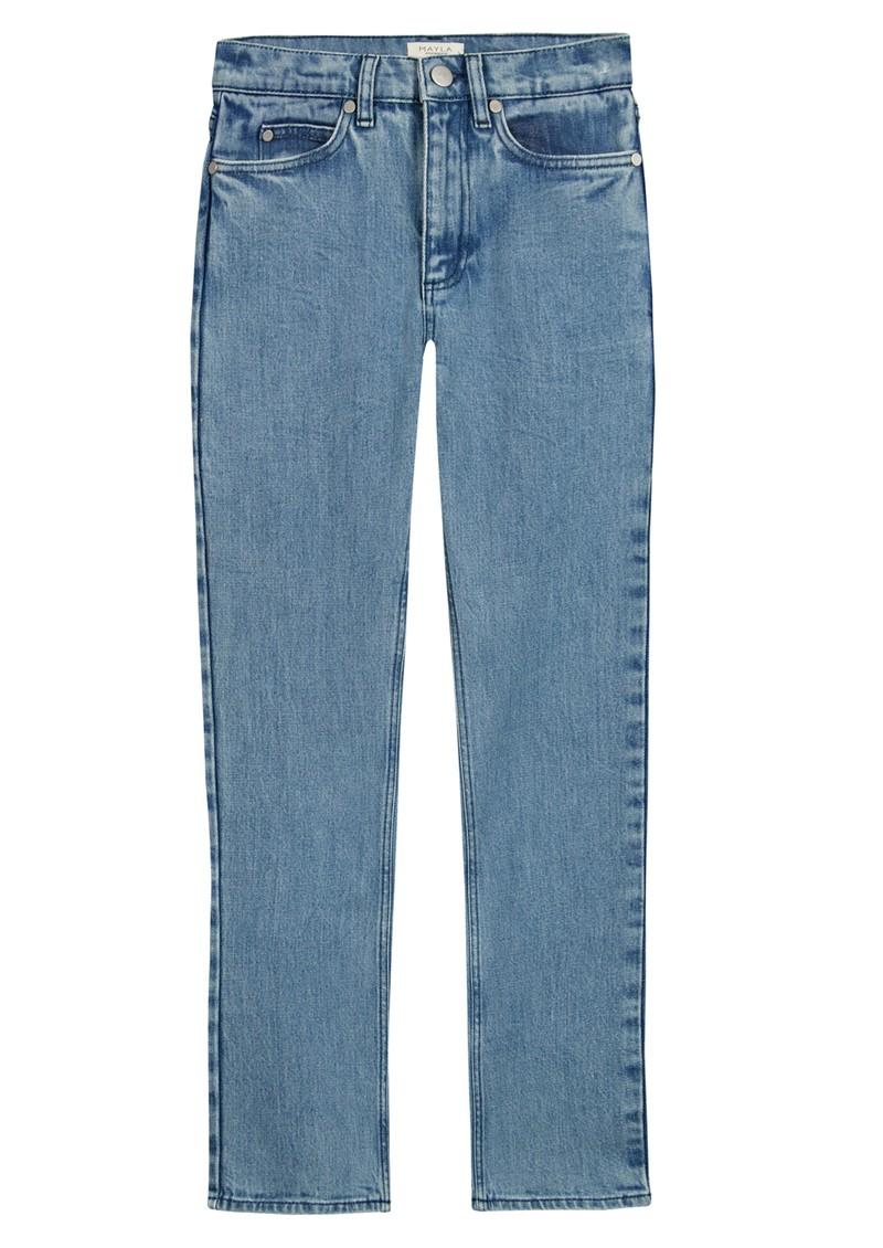 MAYLA Hedvig High Waisted Tapered 'Mom' Jeans - Blue main image