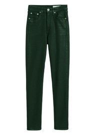 RAG & BONE Nina High Rise Skinny Coated Jeans - Olive