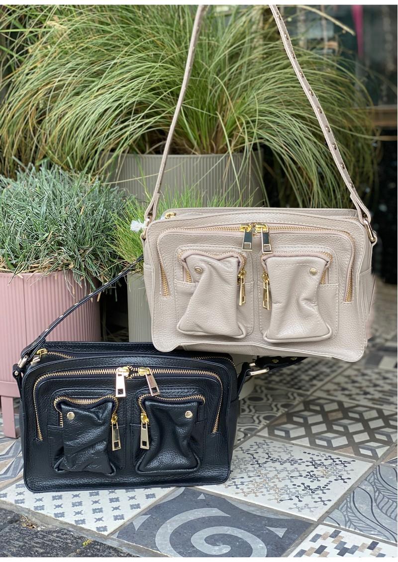 NUNOO Ellie Deluxe Leather Bag - Grey main image