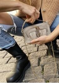 NUNOO Helena Small Deluxe Leather Bag - Grey