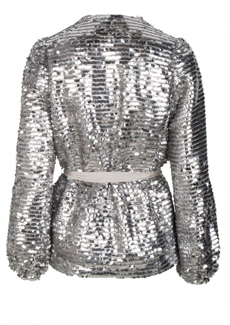 DANTE 6 Quandy Sequin Jacket - Silverlight main image