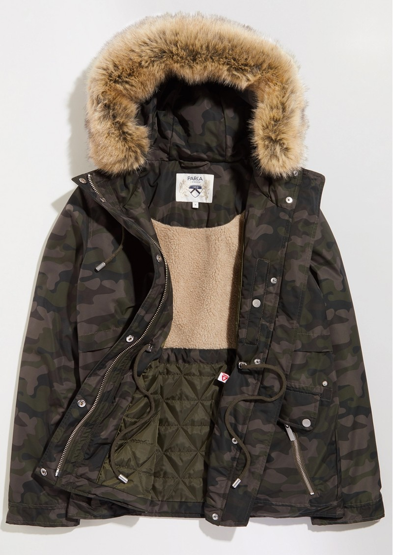 PARKA LONDON Wanderer Short Parka - Camo main image