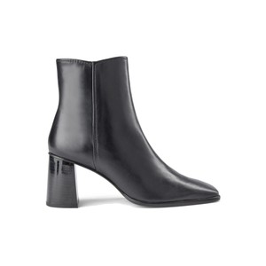 Agata Leather Ankle Boots - Black