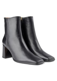 SHOE THE BEAR Agata Leather Ankle Boots - Black